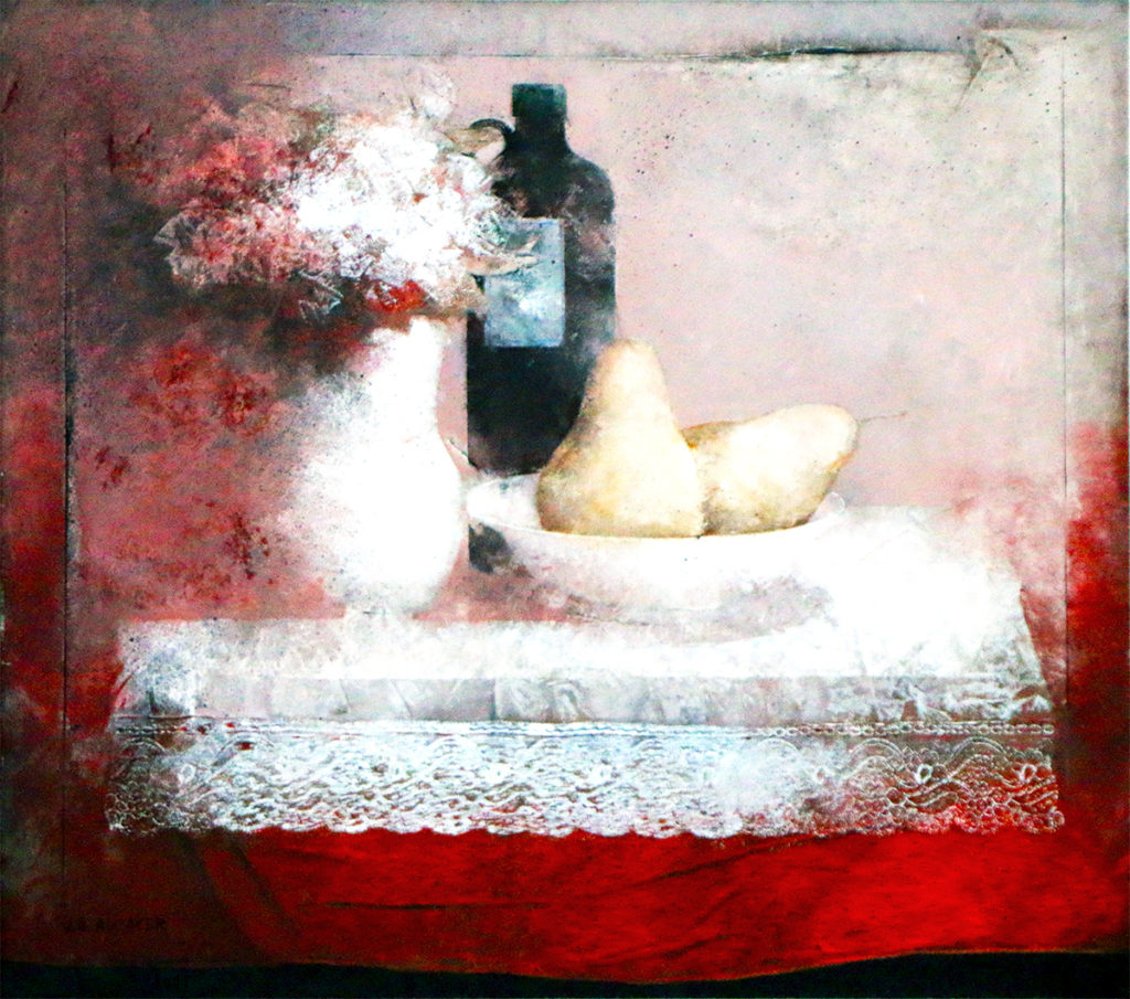 """Still Life with Pears"" JOSE ANTONIO ALCACER - Oil on Wood - 21½"" x 24"""